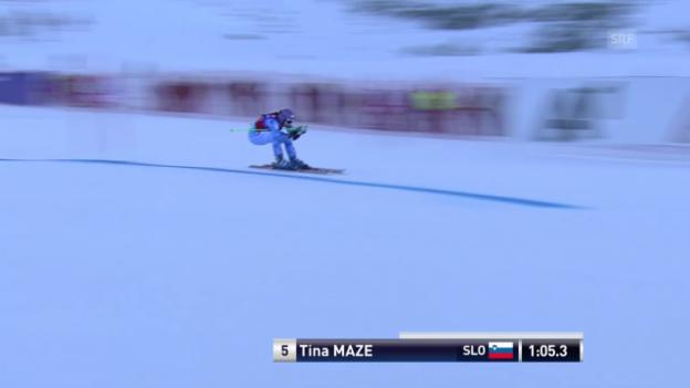 Video «Der 1. Lauf von Tina Maze» abspielen