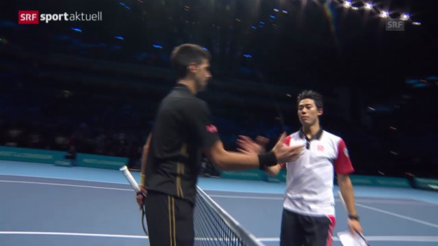 Video «Tennis: ATP Finals, Halbfinal Djokovic - Nishikori» abspielen