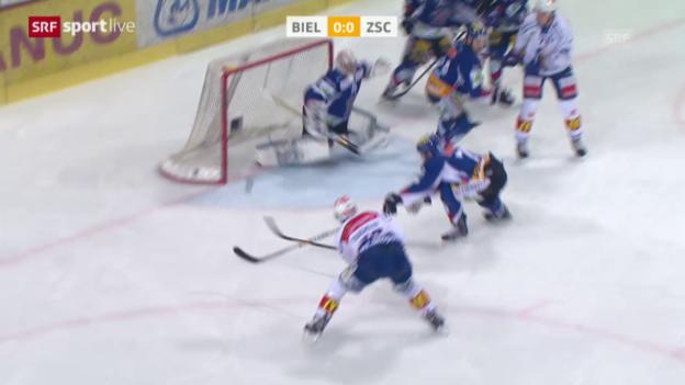 Video «Eishockey: Playoff-Viertelfinal Spiel 6, Biel - ZSC» abspielen