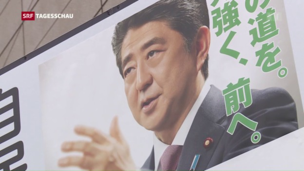 Video «Japaner wählen Oberhaus des Parlaments» abspielen