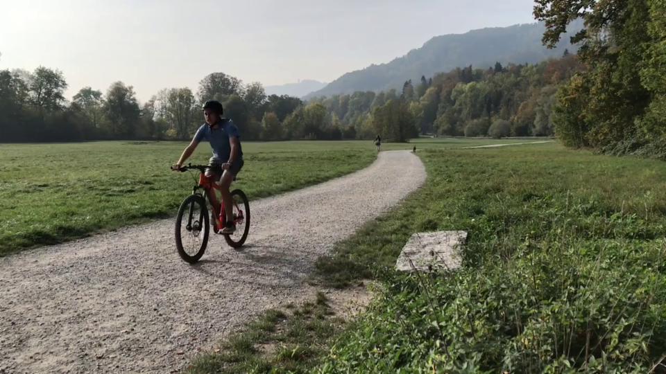Julian am Mountainbiken