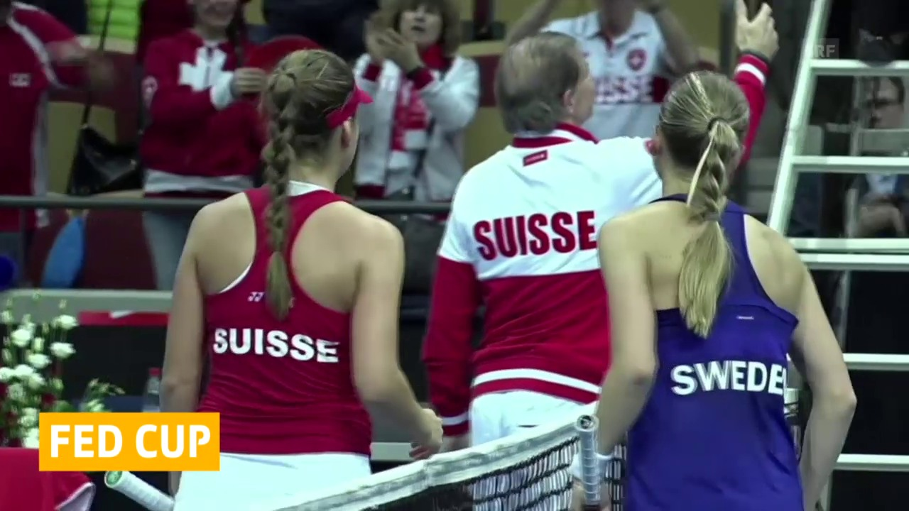 Tennis: Fedcup, Schweden-Schweiz, Tag 1