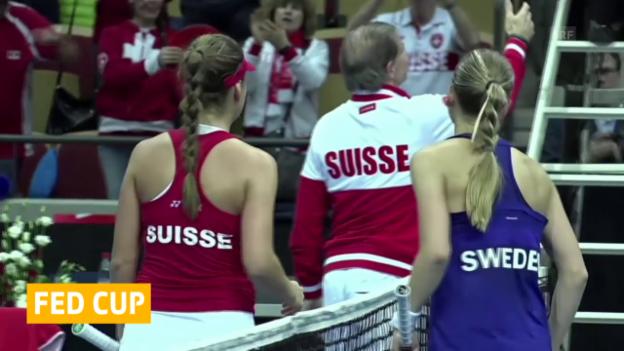 Video «Tennis: Fedcup, Schweden-Schweiz, Tag 1» abspielen
