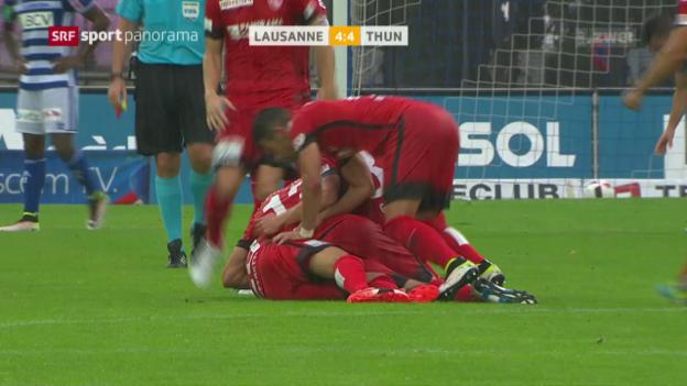 Video «Lausanne und Thun mit verrücktem Unentschieden» abspielen