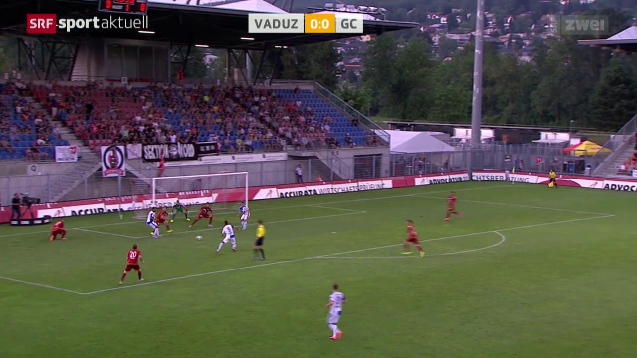 Fussball: Super League, Vaduz - GC