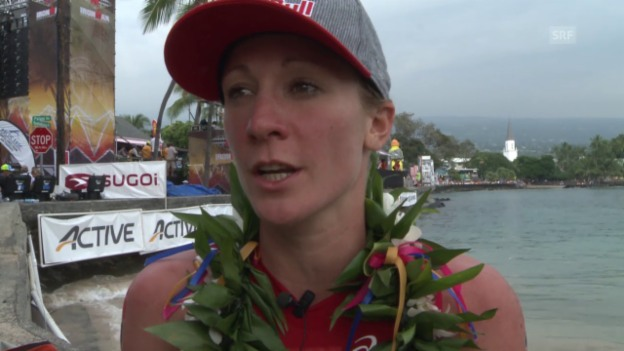 Video «Triathlon: Ironman Hawaii, Interview mit Siegerin Daniela Ryf» abspielen