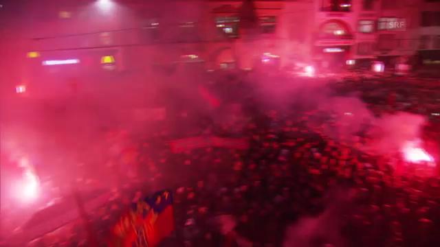 Empfang der FCB-Meisterspieler («sportpanorama»)