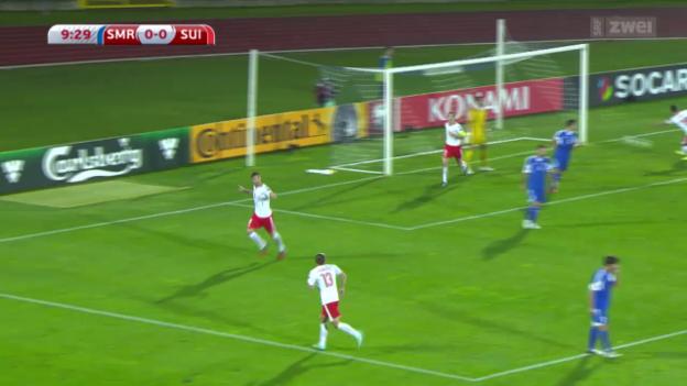 Video «Fussball: EM-Quali, San Marino - Schweiz» abspielen
