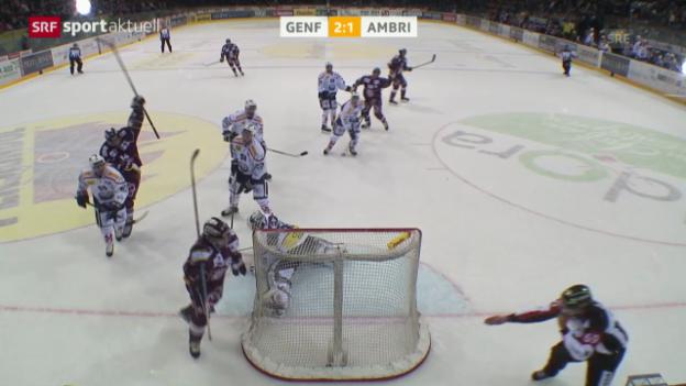 Video «Eishockey: NLA, Genf - Ambri» abspielen