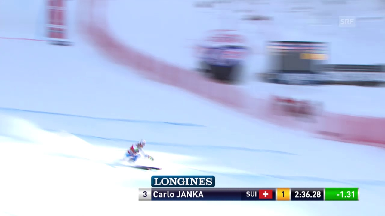 Ski Alpin: Abfahrt Wengen, Fahrt von Janka
