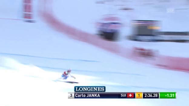 Video «Ski Alpin: Abfahrt Wengen, Fahrt von Janka» abspielen