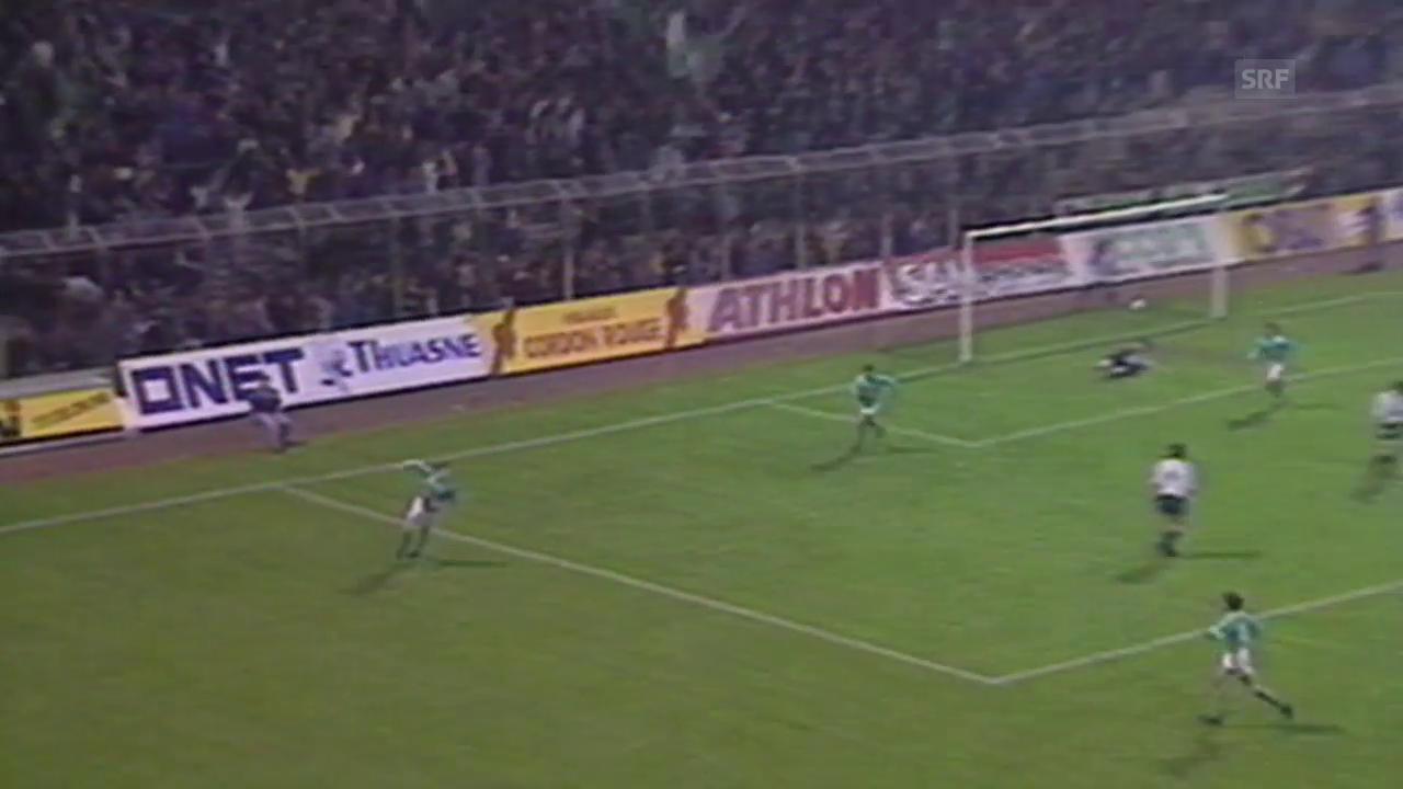 Geiger trifft gegen Lille (SRF-Archiv)