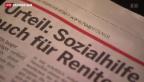 Video «Neue Richtlinien für Sozialhilfe» abspielen