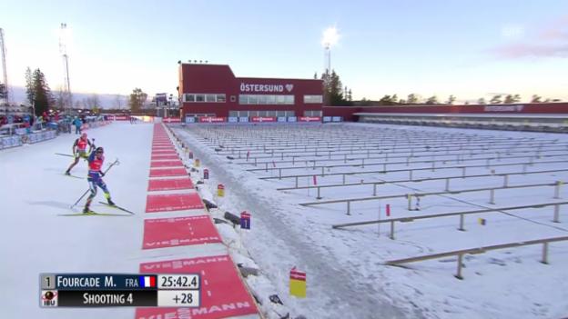 Video «Biathlon: Verfolgerduell Fillon und Pfeiffer» abspielen