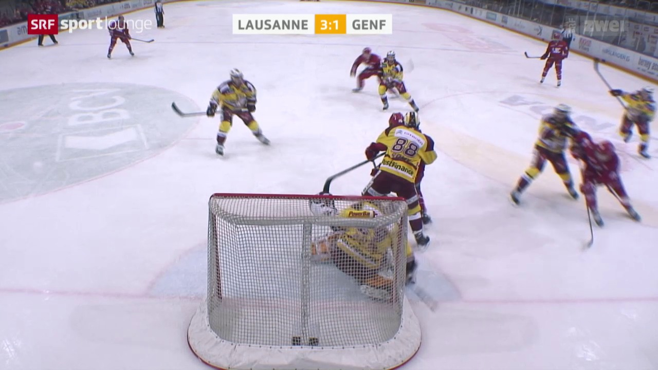 Eishockey: NLA, Lausanne - Genf