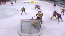 Video «Eishockey: NLA, Lausanne - Genf» abspielen