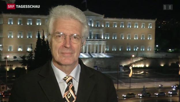 Video «SRF-Korrespondent Werner van Gent erklärt die Lage in Athen» abspielen