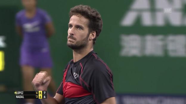 Video «Tennis: ATP Schanghai, Nadal - Lopez» abspielen