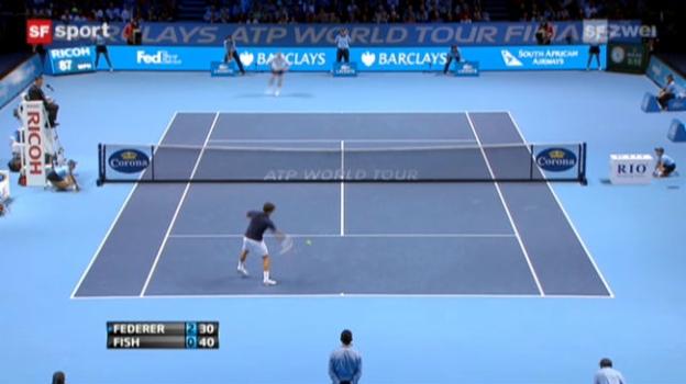 Video «ATP Finals: Federer - Fish» abspielen