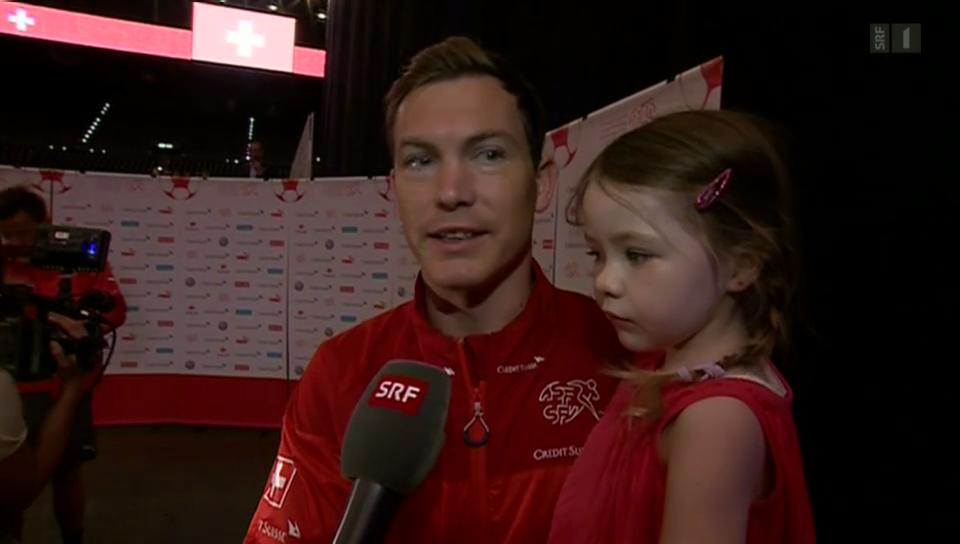 Grosser Empfang für die Schweizer Fussball-Nati