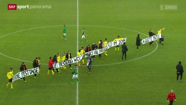Video «Fussball: SL, YB - St. Gallen» abspielen