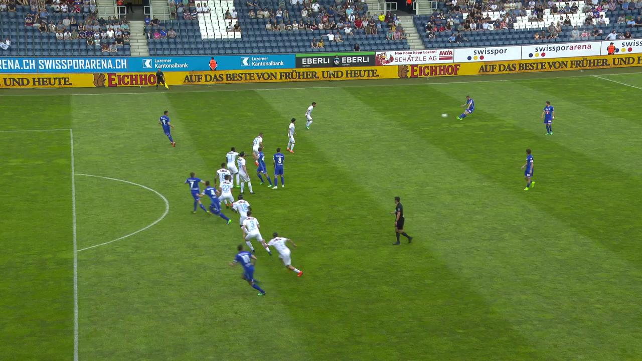 Das 1:0 für den FCL durch Lustenberger