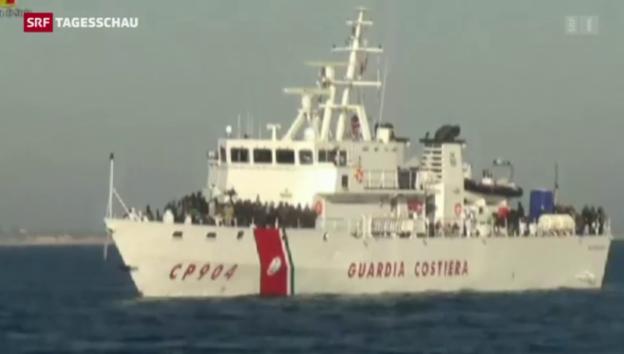 Video «Zu viele Flüchtlinge – Italien schlägt Alarm» abspielen