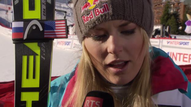 Video «Ski Alpin: Abfahrt Val d'Isère, Interview mit Lindsey Vonn (21.12.2013)» abspielen