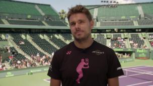 Video «Wawrinka vor Miami: «Habe hier nie mein bestes Tennis gespielt»» abspielen