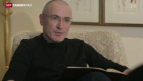 Video «Chodorkowski stellt sich den Medien» abspielen