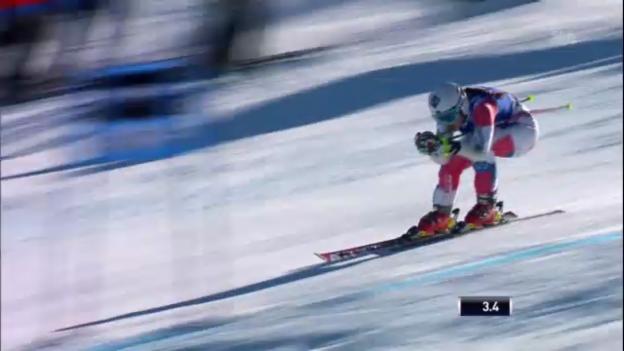 Video «Ski: Super-G-Fahrt von Tina Weirather» abspielen