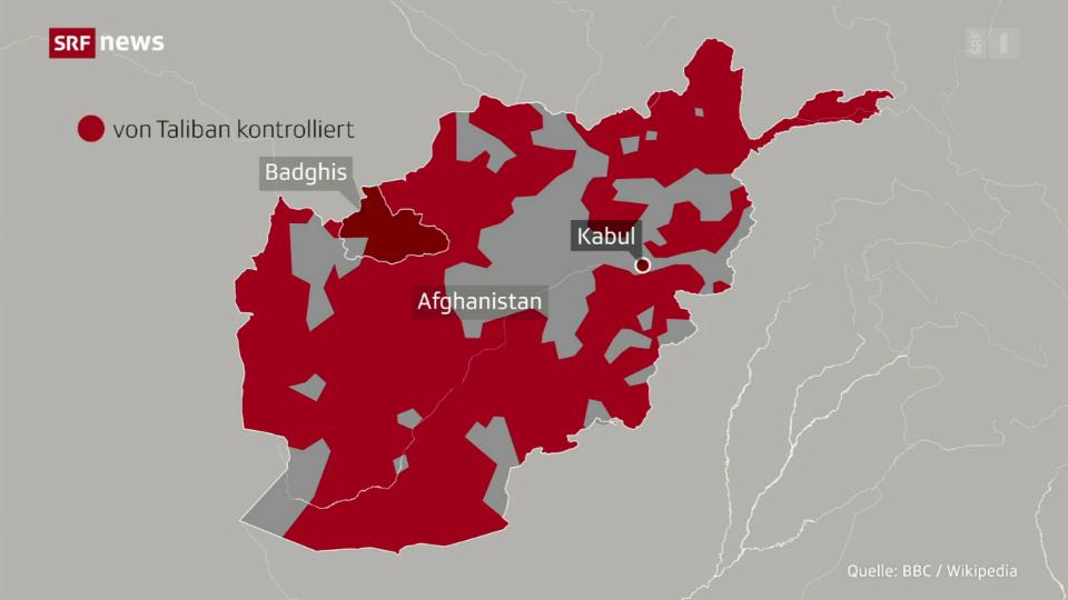 Aus dem Archiv: Die afghanischen Taliban rücken vor