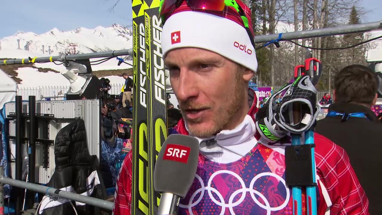 Langlauf: 50 km Skating Männer, Interview mit Remo Fischer (sotschi direkt, 23.2.2014)