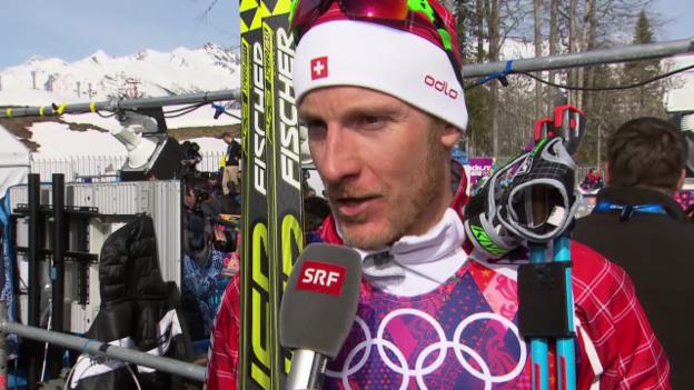 Video «Langlauf: 50 km Skating Männer, Interview mit Remo Fischer (sotschi direkt, 23.2.2014)» abspielen