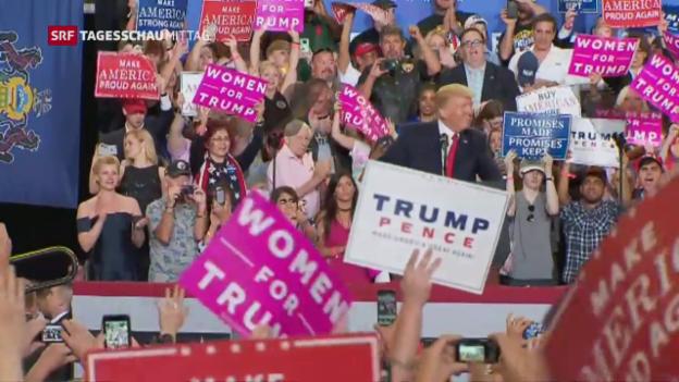 Video «Trump feiert weit weg vom «Washingtoner Sumpf»» abspielen