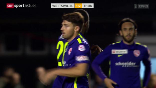 Video «Fussball: Cup, Achtelfinals Wettswil-Bonstetten - Thun» abspielen