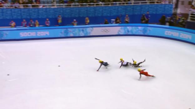 Video «Eisschnelllauf: Shorttrack-Final der Frauen über 500 Meter («sotschi direkt, 13.02.2014)» abspielen