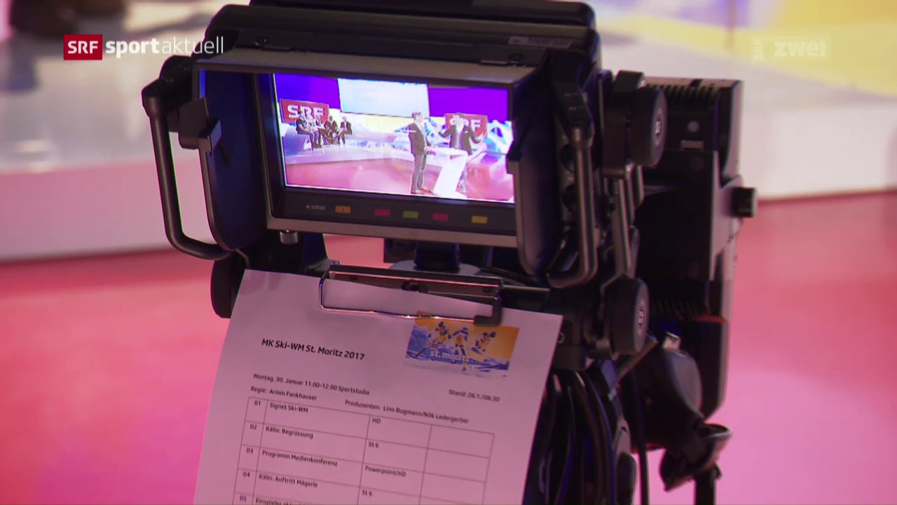 Medienkonferenz von SRF über die Berichterstattung an der Ski-WM