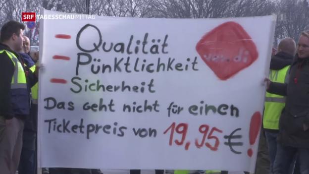 Video «Streik am Berliner Flughafen» abspielen