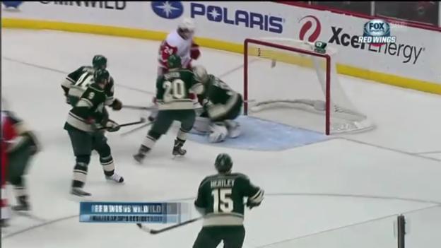 Video «EH: Brunner trifft zum 1:0 gegen Minnesota» abspielen