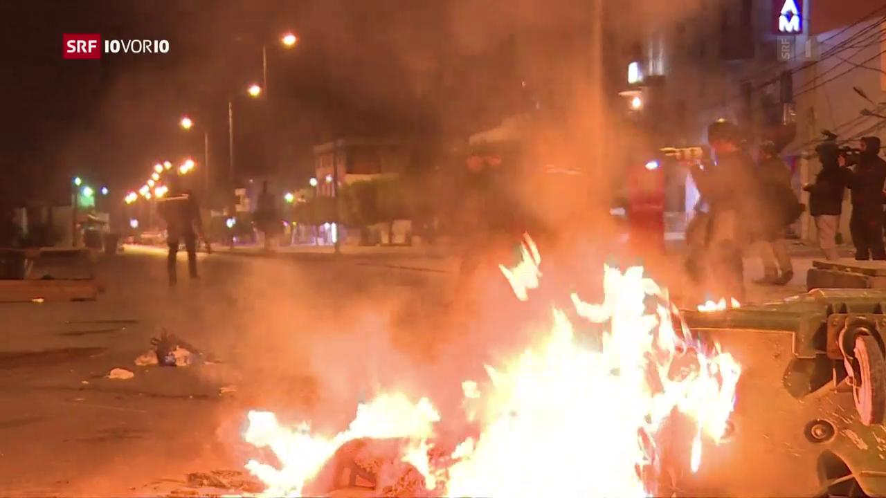 Schwere Proteste in Tunesien