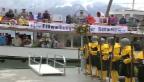 Video «04. Mai 1991 - Bundesrat Jean-Pascal Delamuraz eröffnet den «Weg der Schweiz» (unkommentiert)» abspielen