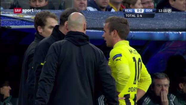 Video «Real - Dortmund: Götzes Auswechslung («sportlive»)» abspielen
