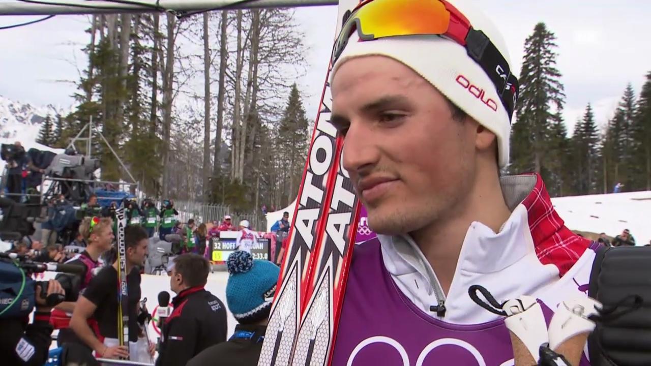 Langlauf: 15 km klassisch, Interview mit Jonas Baumann (sotschi direkt, 14.2.2014)