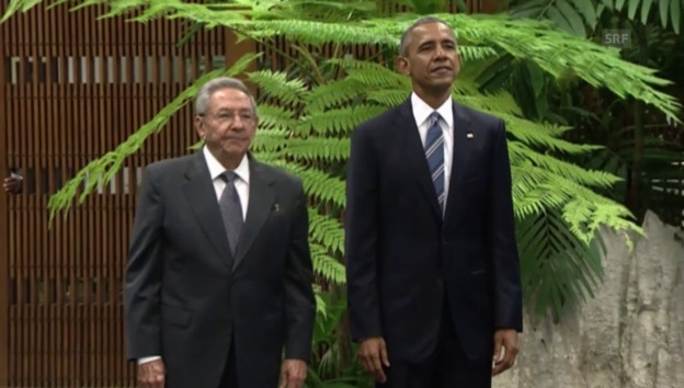 Video «Historisch: Obama trifft in Havanna auf Castro» abspielen