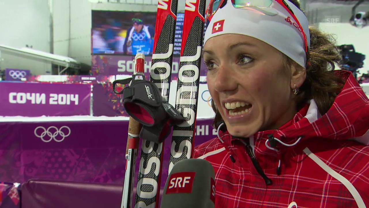Biathlon: Mixed-Staffel, Interview S. Gasparin (sotschi direkt, 19.02.2014)
