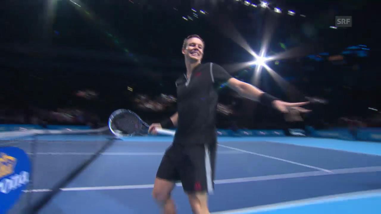 Tennis: Berdych - Ferrer: Satz- und Matchball («sportlive»)