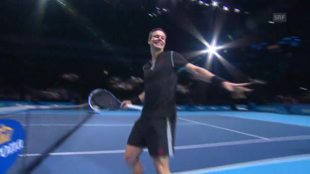 Video «Tennis: Berdych - Ferrer: Satz- und Matchball («sportlive»)» abspielen