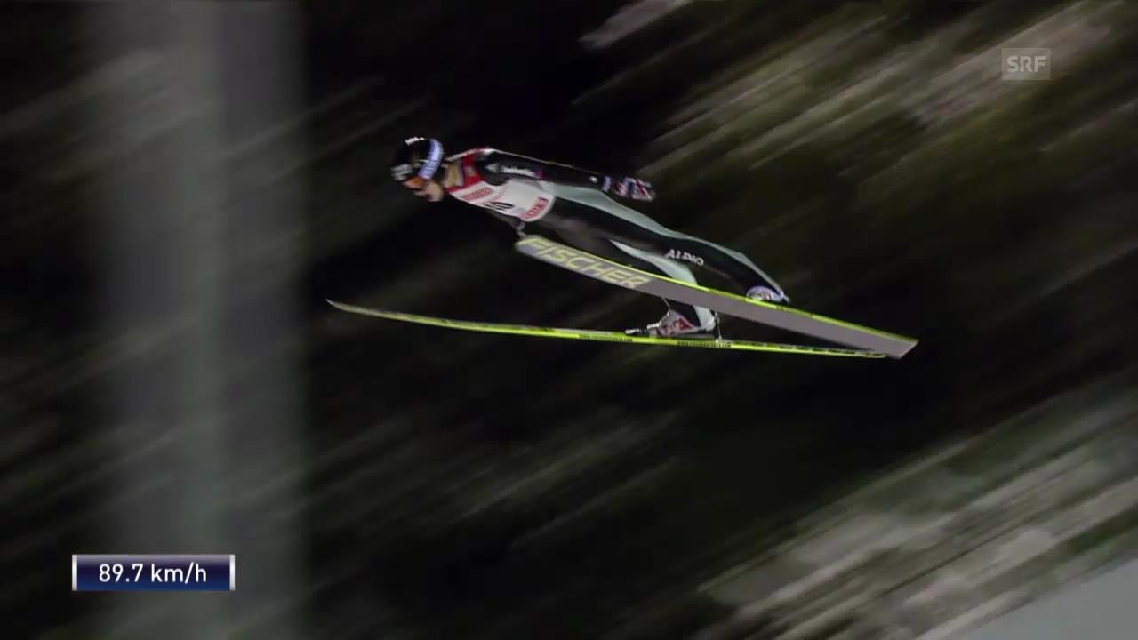 Skispringen: Weltcup in Kuopio, 2. Sprung von Gregor Deschwanden