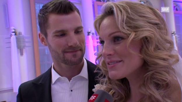 Video «Christina Surer und Martin Tomczyk zur Hochzeit» abspielen